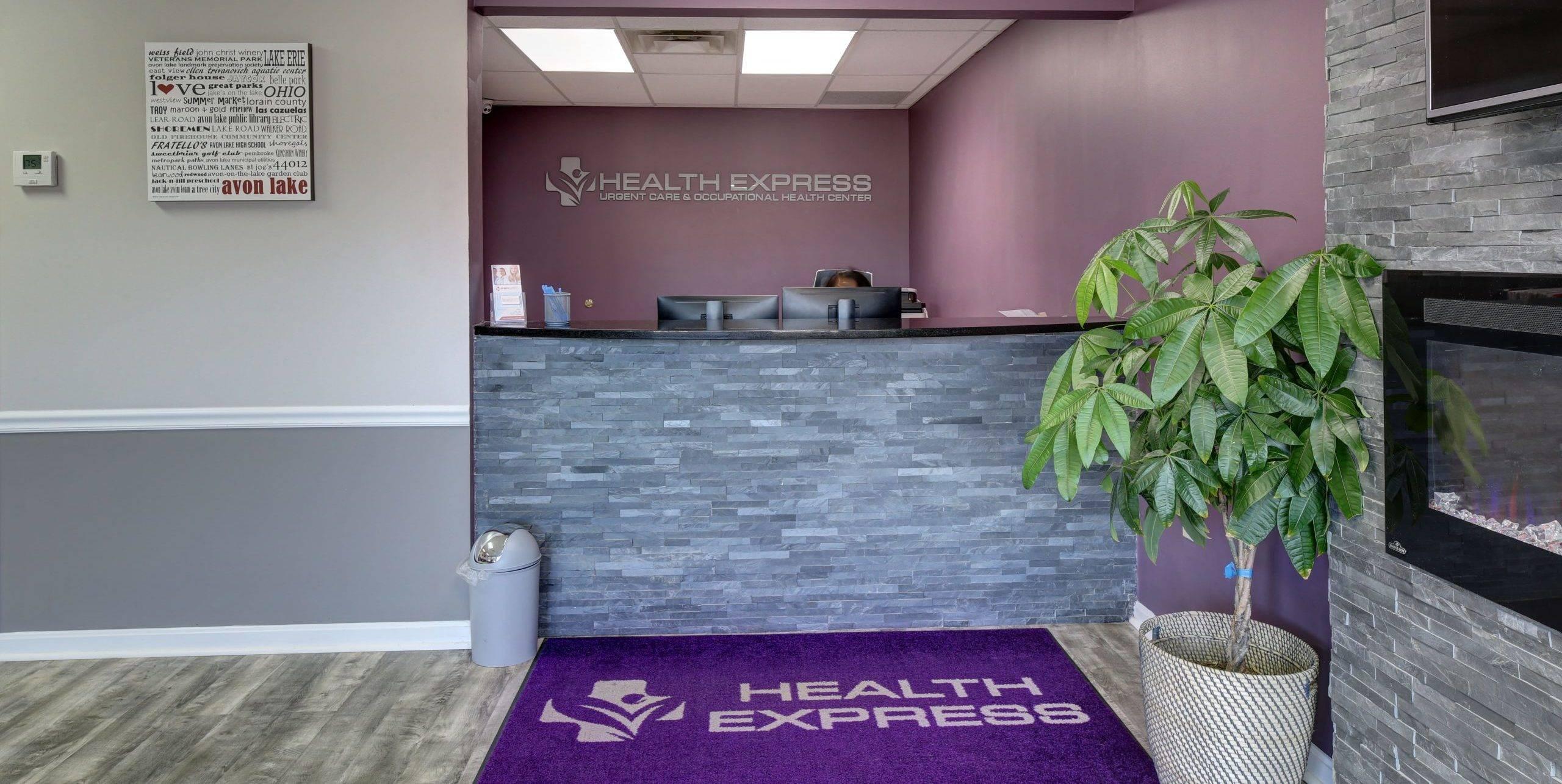 Health Express Urgent Care Avon Lake Ohio Lobby-min